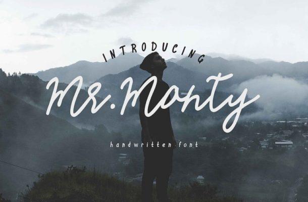 Mr.Monty Handwritten Font
