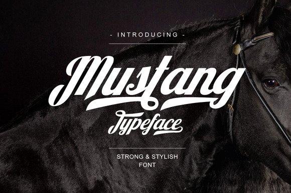 Mustang Script Font