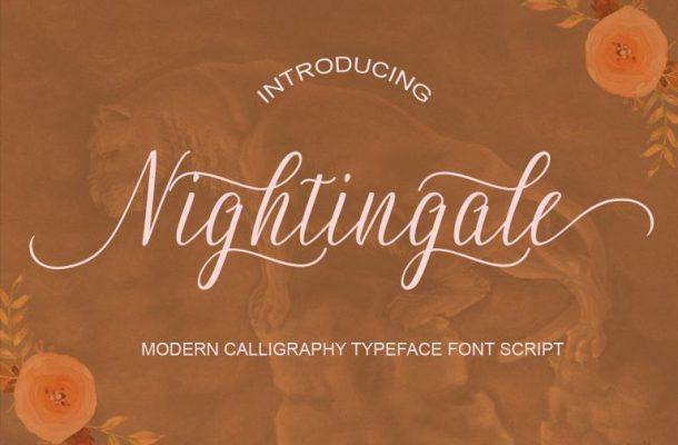 Nightingale Handwriting Font