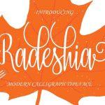 Radeshia Script Font