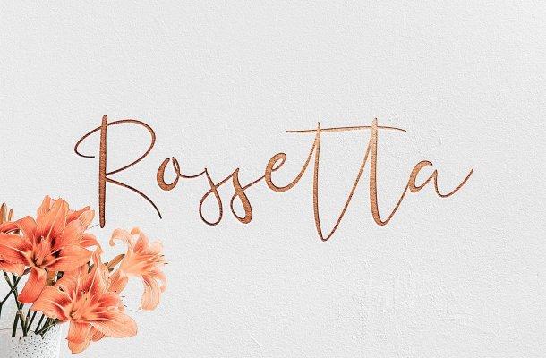 Rossetta Script Font