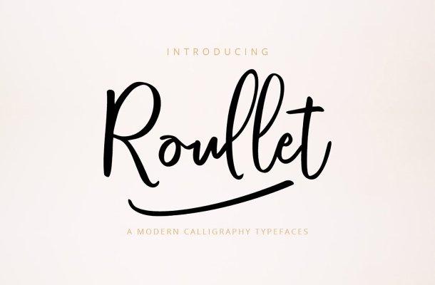 Roullet Script Font