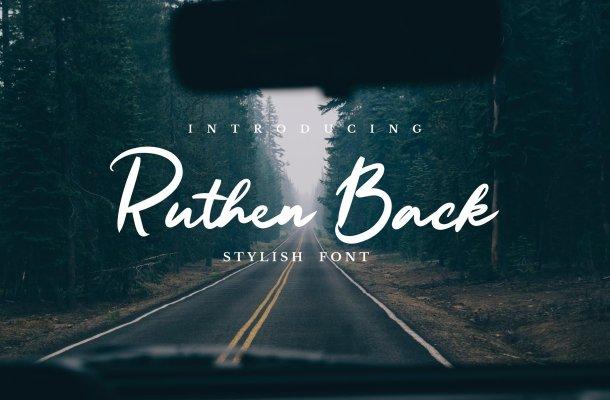 Ruthen Back Stylish Font