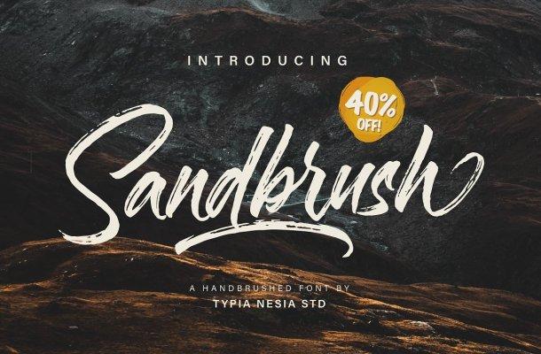 Sandbrush Brush Font