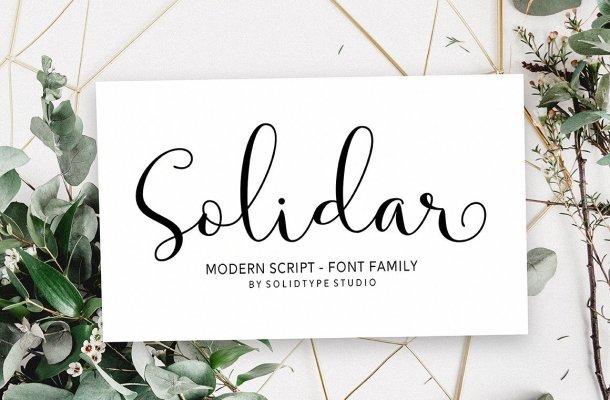 Solidar Script Font
