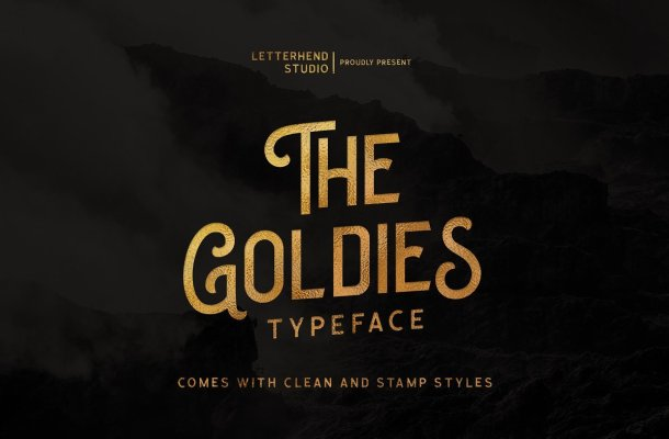 The Goldies Display Font
