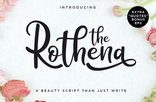 The Rothena Script Font