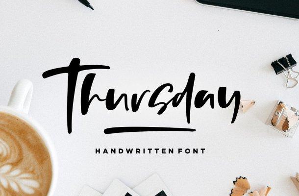 Thursday Vibes Brush Font