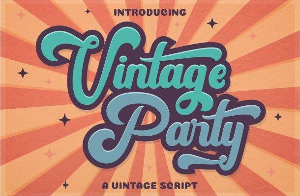 Vintage Party Bold Script Font