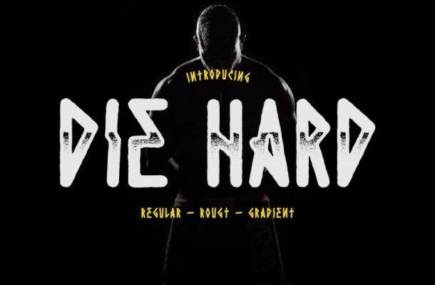 Die Hard Typeface