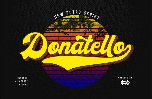 Donatello Retro Script Font