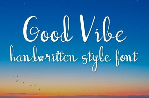 Good Vibe Script Font
