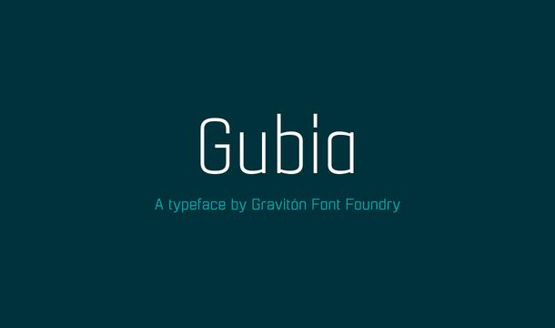 Gubia Font