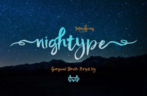 Nightype Brush Font