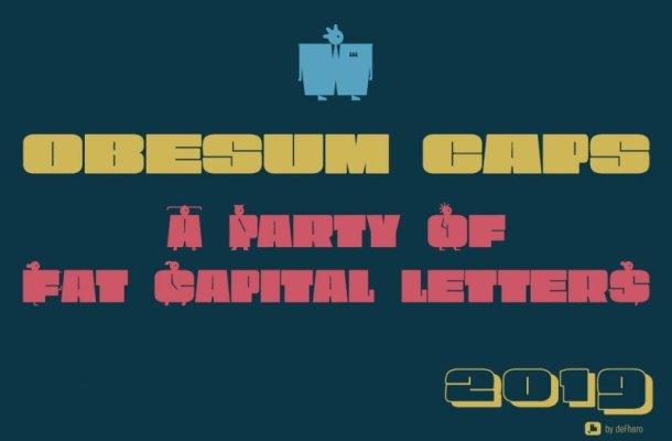 OBESUM CAPS Typeface