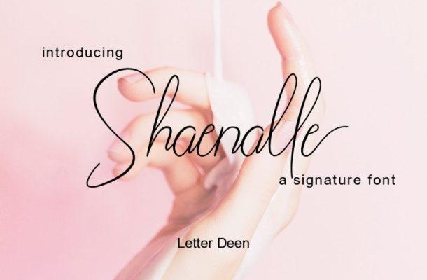 Shaenalle Signature Font