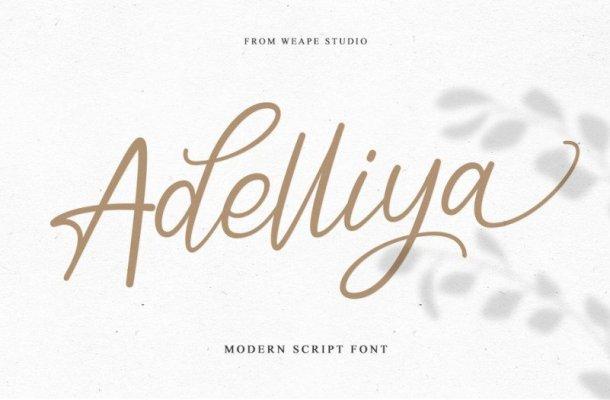 Adelliya Script Font