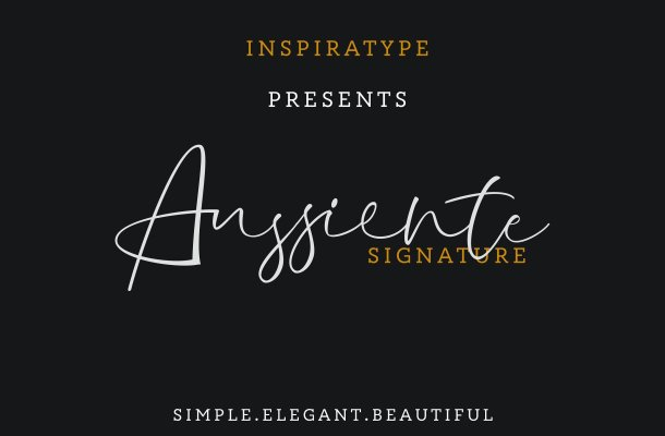 Aussiente Signature Font