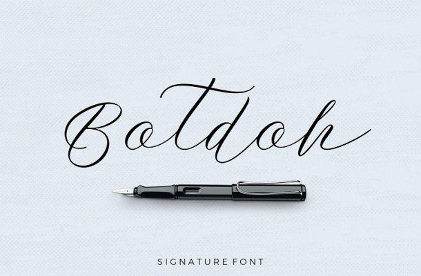 Botdoh Script Font