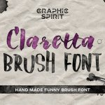 Claretta Brush Font