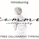 Comme Calligraphy Font