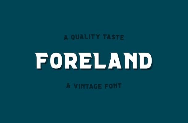 Foreland Vintage Font