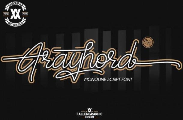 Frayhord Signature Font