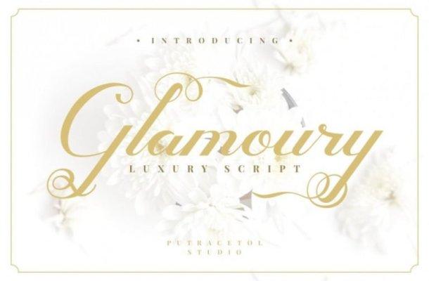 Glamoury Script Font