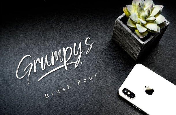 Grumpys Brush Font