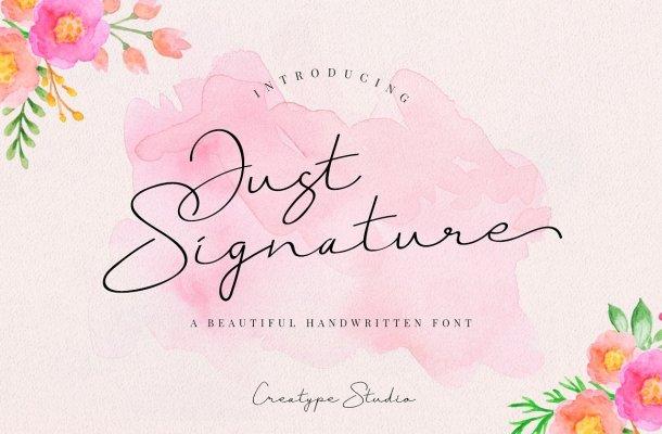 Just Signature Font