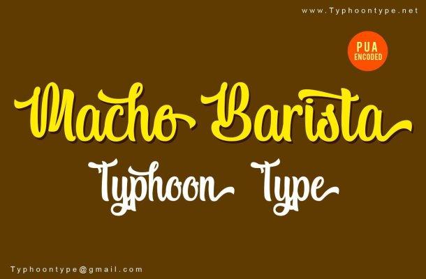 Macho Barista Script Font