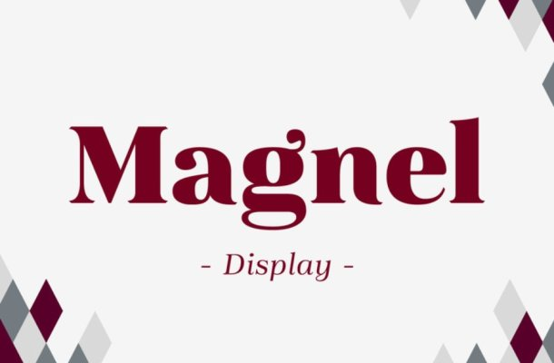 Magnel Display Font Family