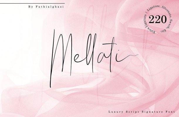 Mellati Signature Font