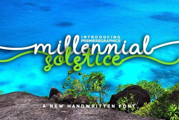 Millennial Solstice Script Font