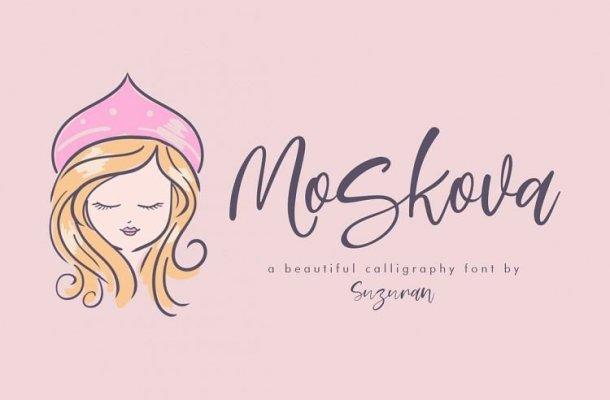 Moskova Script Font