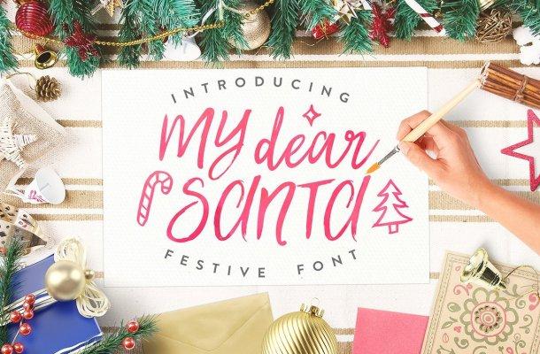 My Dear Santa Script Font