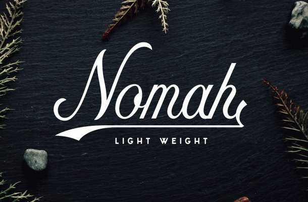 Nomah Light Script Font