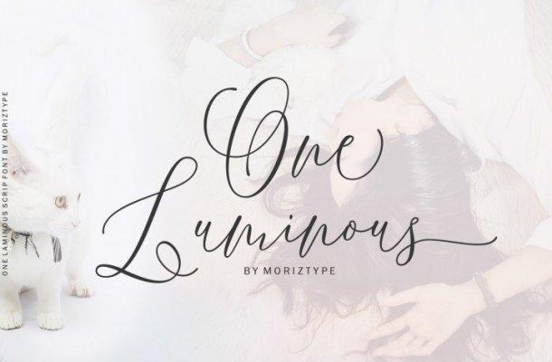 One Luminous Script Font