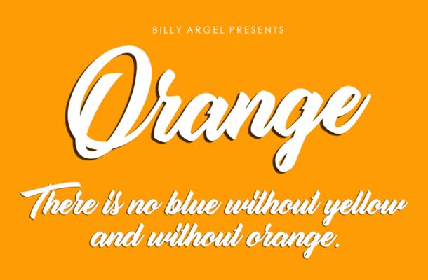 Orange Script Font