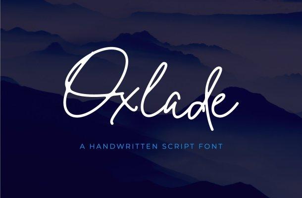 Oxlade Script Font