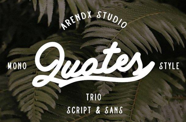 Quotes Script Font