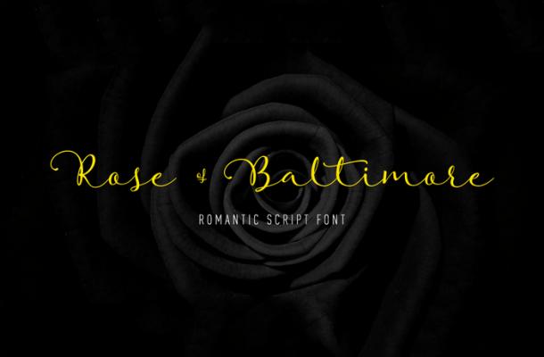 Rose Of Baltimore Font