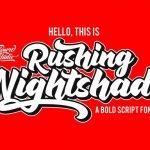 Rushing Nightshade Script Font
