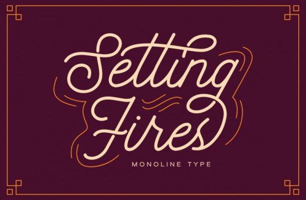 Seting Fires Monoline Font