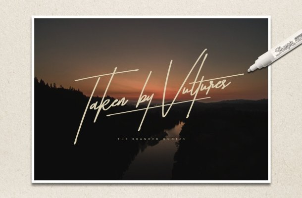Taken by Vultures Typeface