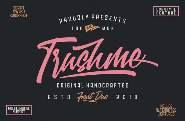 Trushme Script Font