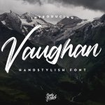 Vaughan Handstylish Font