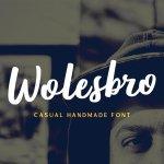 Wolesbro Brush Font