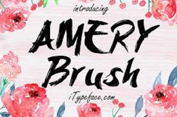 Amery Brush Font