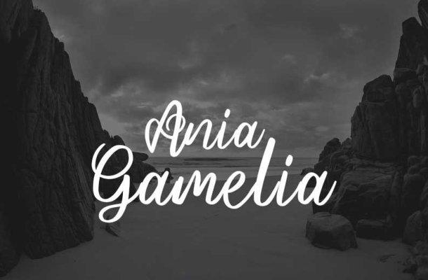 Ania Gamelia Handlettering Script Font